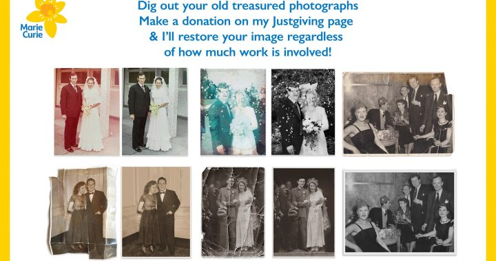 Digitally Repair your Old Photo & Raise Money for Marie Curie